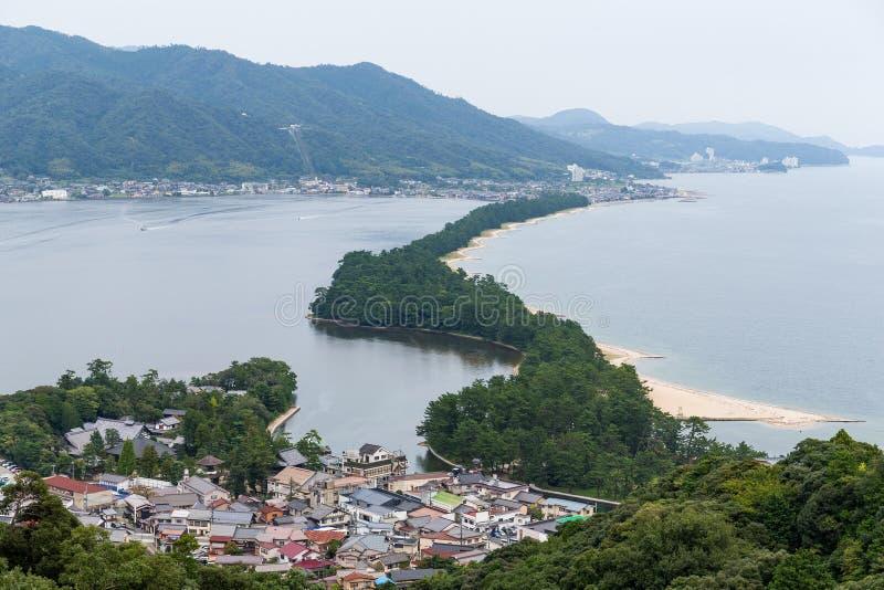 Amanohashidate in de stad van Kyoto van Japan royalty-vrije stock afbeeldingen