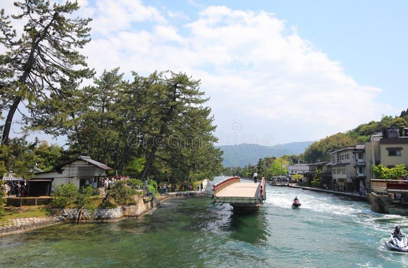 Amanohashidatelandschap Kyoto Japan stock afbeelding