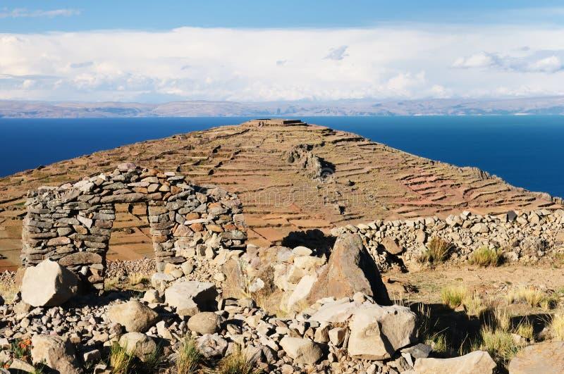 amantani wyspy jeziorny Peru titicaca obrazy royalty free