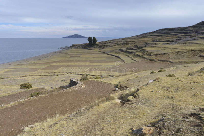 amantani wyspy jeziorny Peru titicaca obraz stock