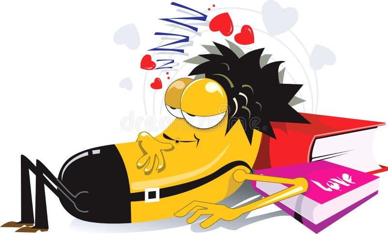 Amante addormentato royalty illustrazione gratis
