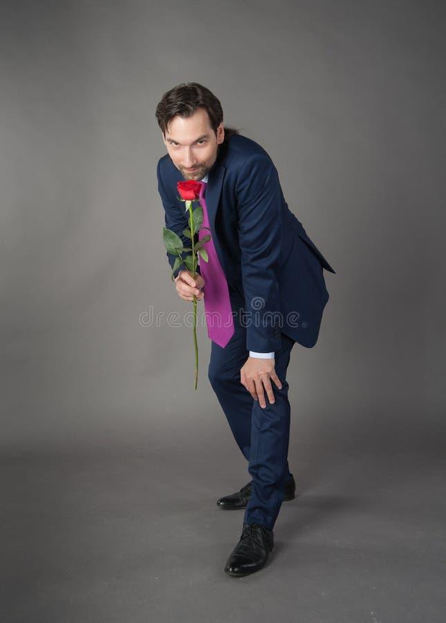 Amante con il fiore fotografie stock