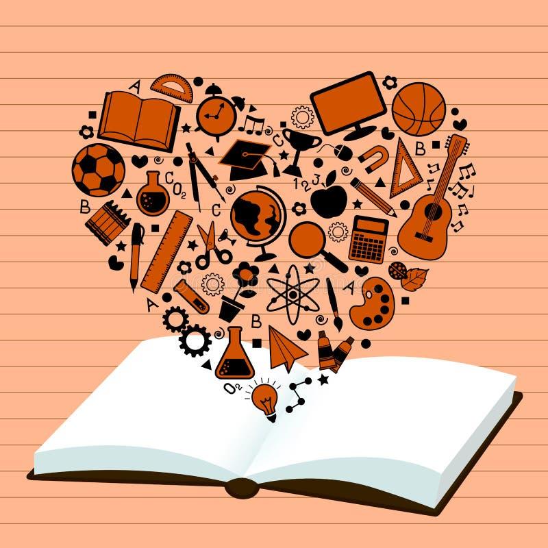 Amante da educação ilustração do vetor