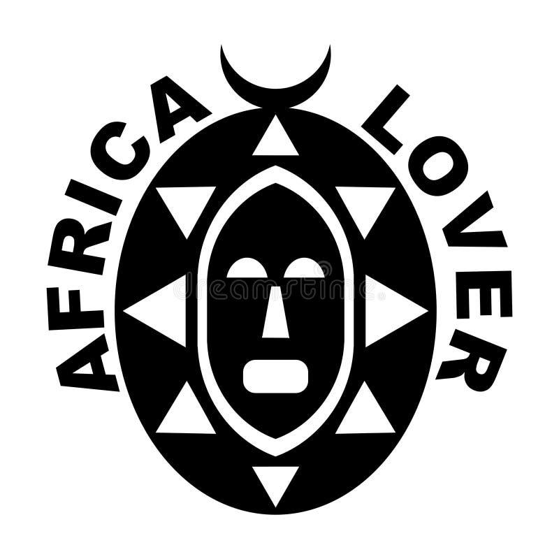 Amante de África ilustração do vetor