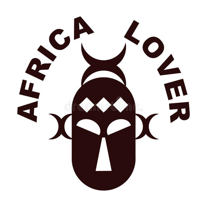 Amante de África ilustração royalty free
