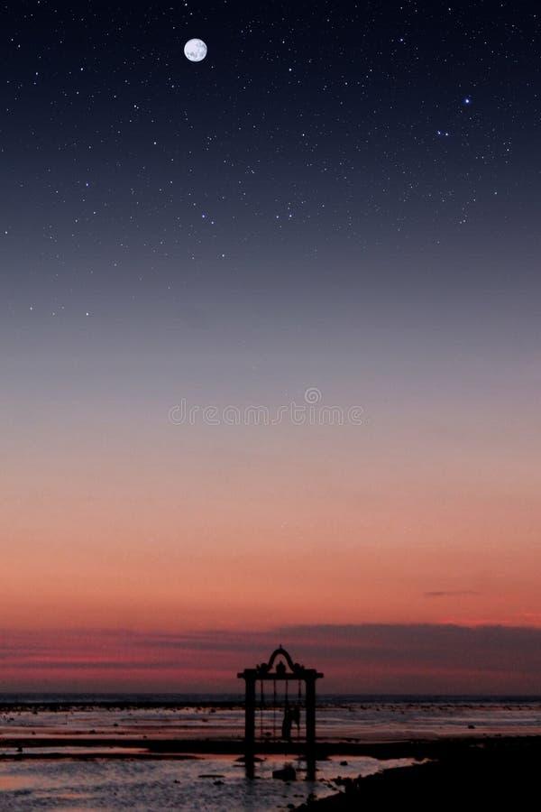 Amante de la puesta del sol fotos de archivo