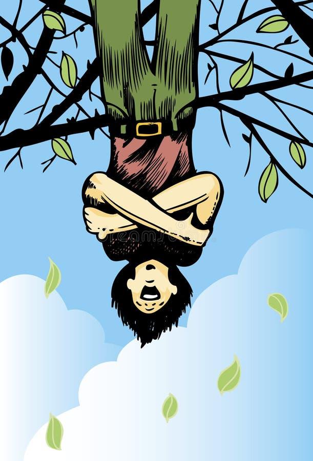 Amante del árbol de Upsidedown stock de ilustración