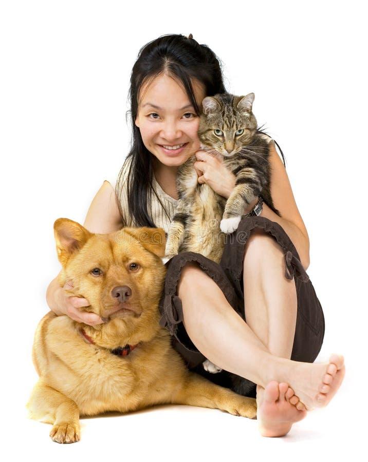 Amante del animal doméstico imágenes de archivo libres de regalías