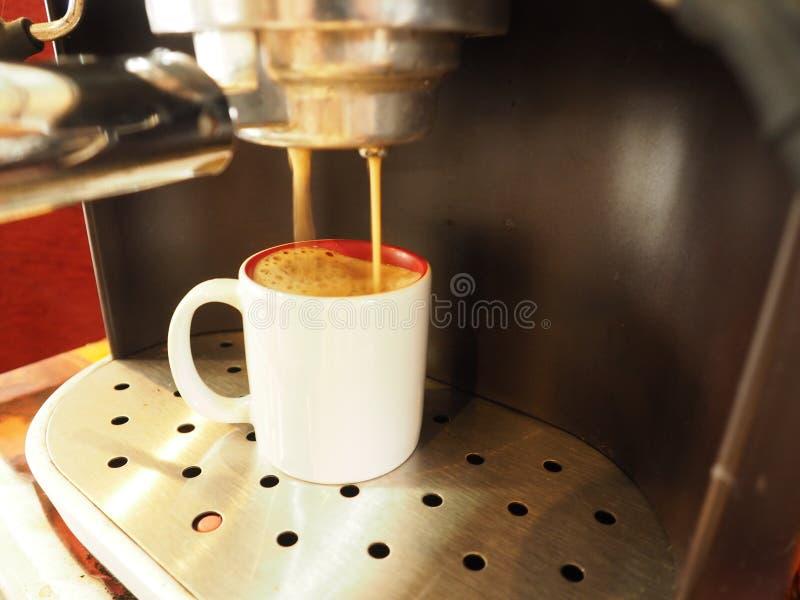 Amante del café express del café foto de archivo