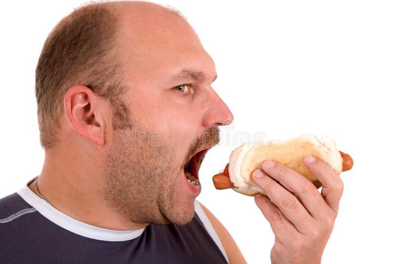 Amante dell'hot dog immagini stock
