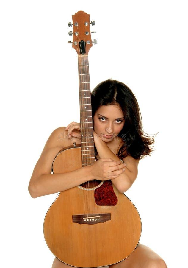 Amante della chitarra fotografia stock libera da diritti