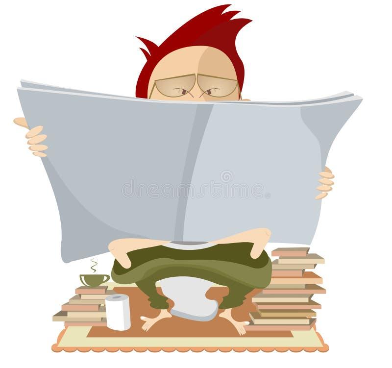 Amante di libro illustrazione di stock