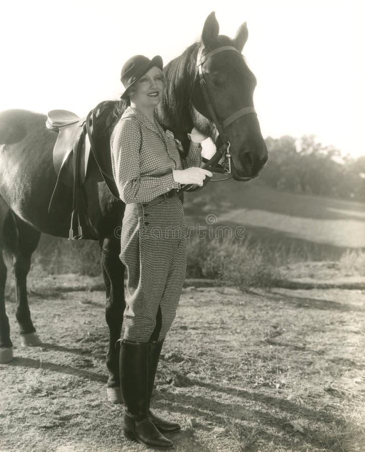Amante do cavalo fotos de stock royalty free