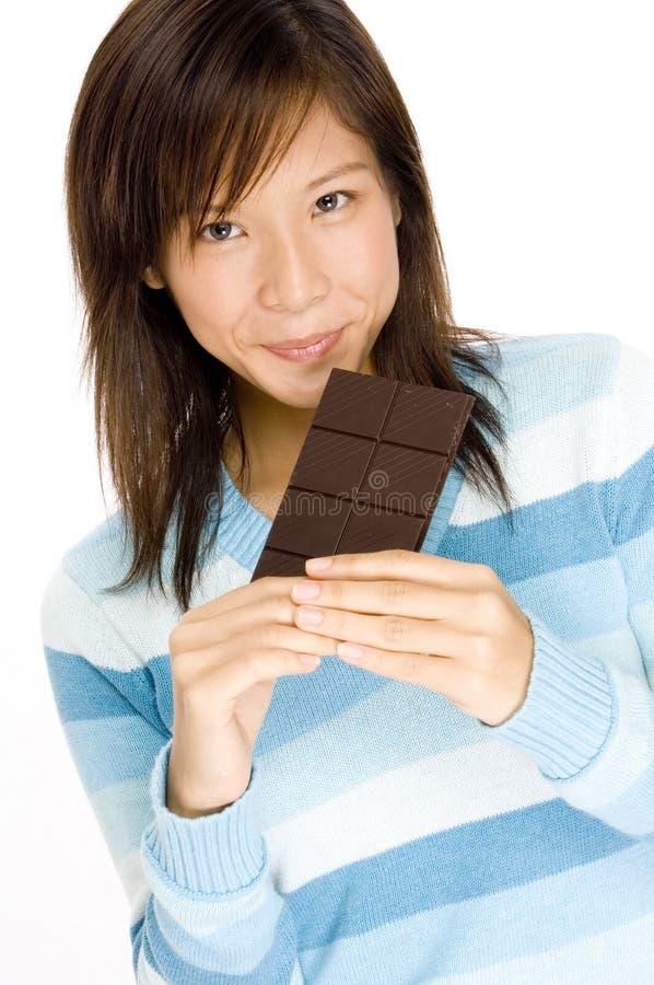 Amante do chocolate foto de stock