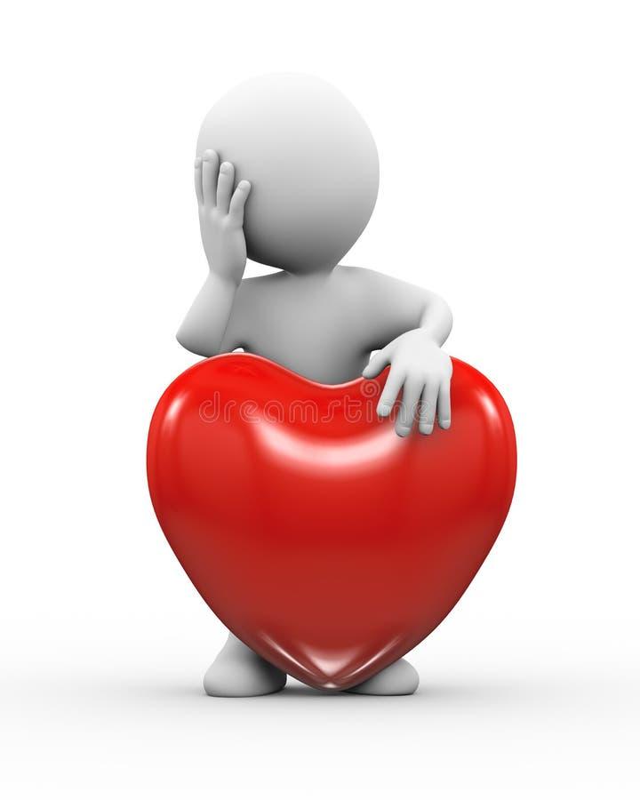 amante locamente enamorado triste 3d ilustración del vector
