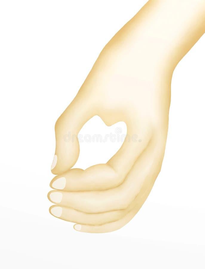 Amante que muestra el corazón de las manos para las señales del amor ilustración del vector