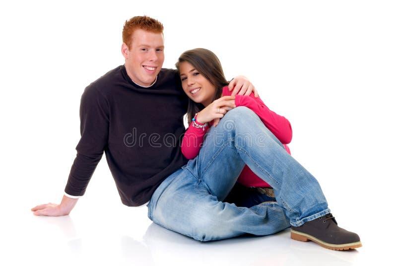Amantes adolescentes fotos de archivo libres de regalías
