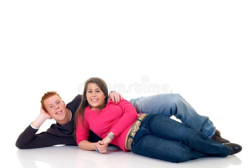 Amantes adolescentes imagem de stock