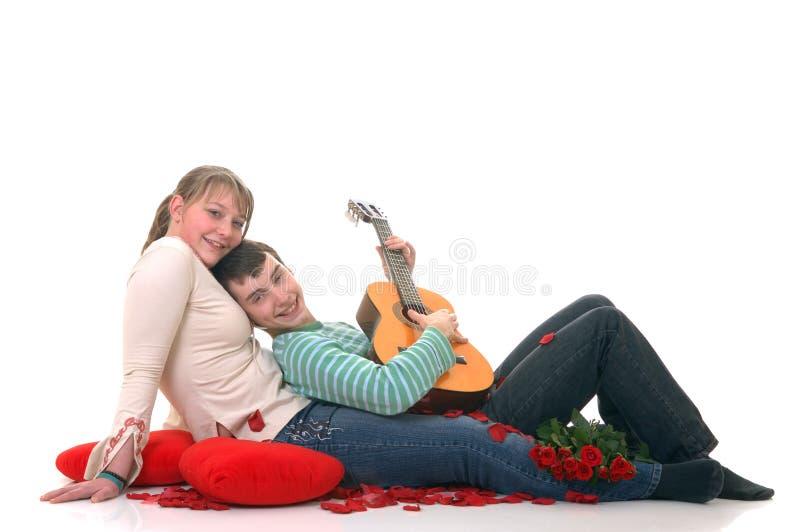 Amantes adolescentes imágenes de archivo libres de regalías