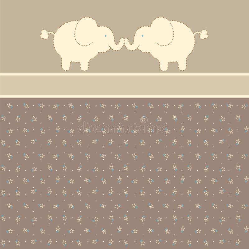 Amantes de los elefantes stock de ilustración