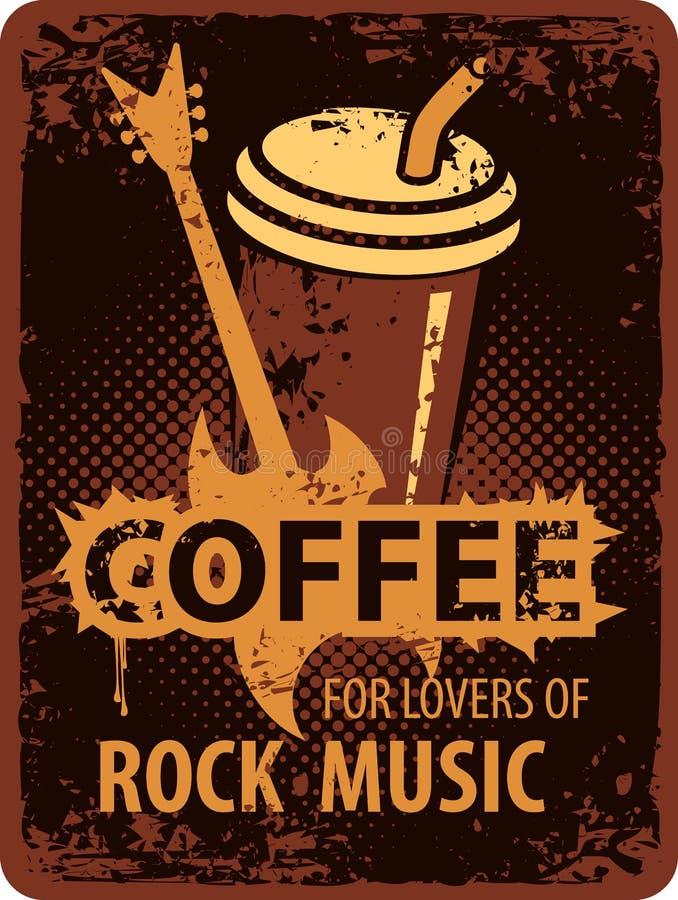 Amantes del café de la música rock libre illustration