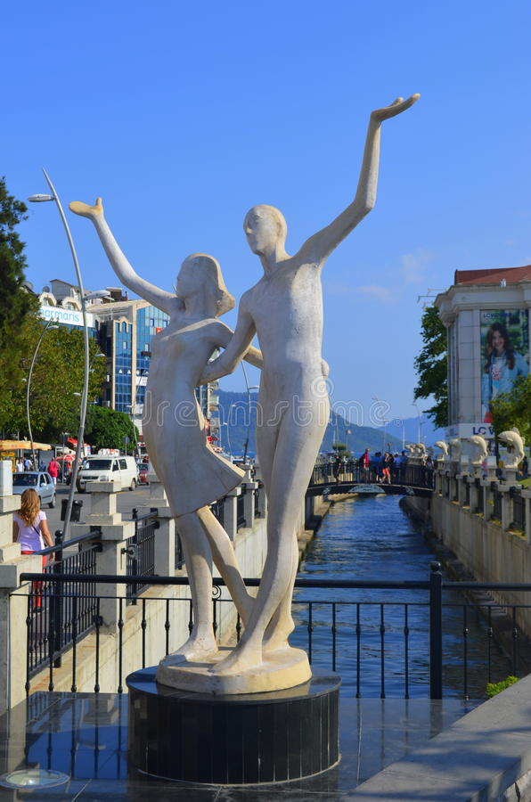 Amantes do monumento Marmaris Turquia foto de stock