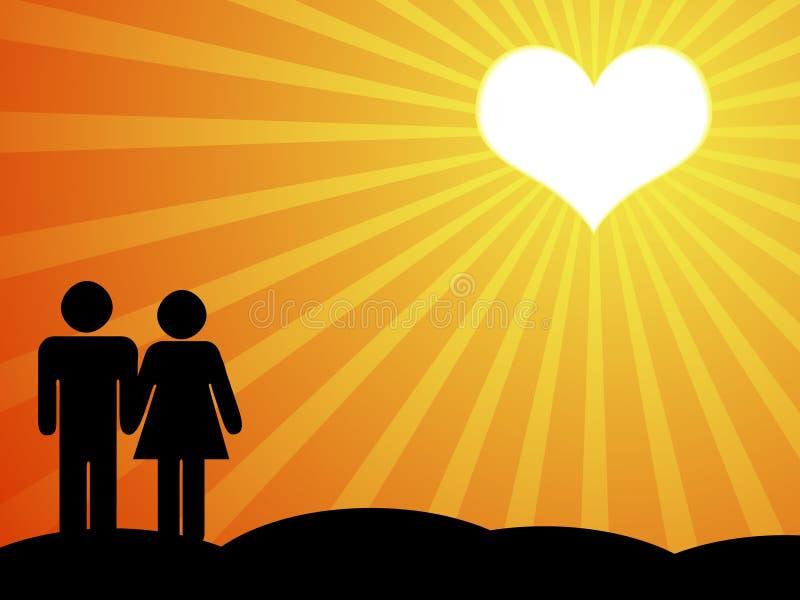 Amantes en sol imagen de archivo