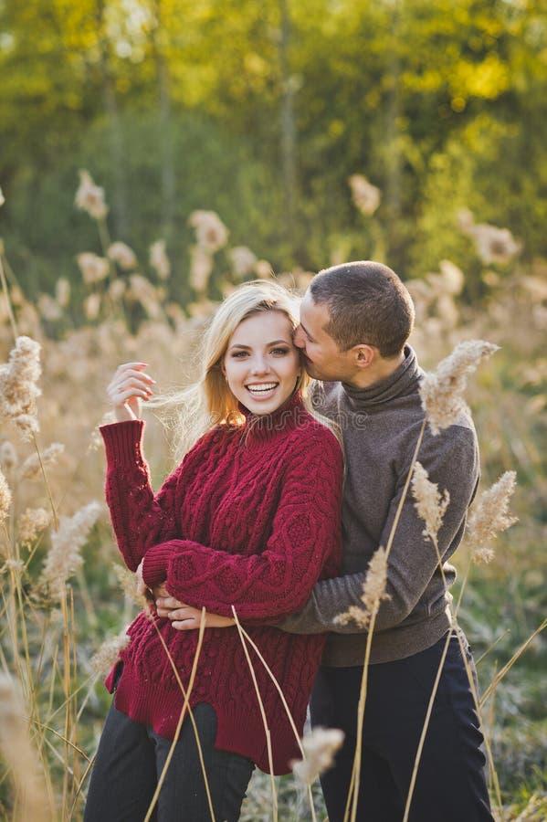 Amantes jovenes en el sol poniente 1359 imagen de archivo