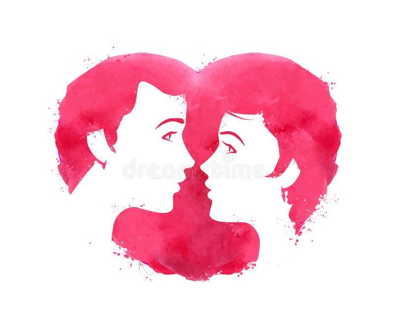 amantes Un hombre y una mujer Amor, boda, un joven libre illustration