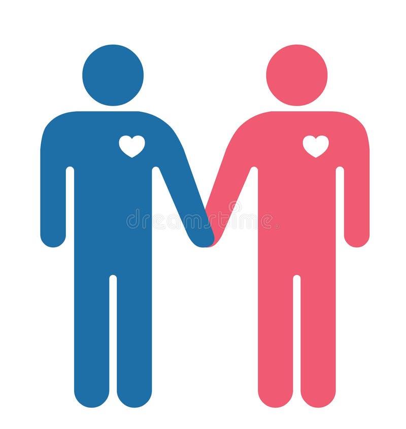 Amanti gai illustrazione vettoriale