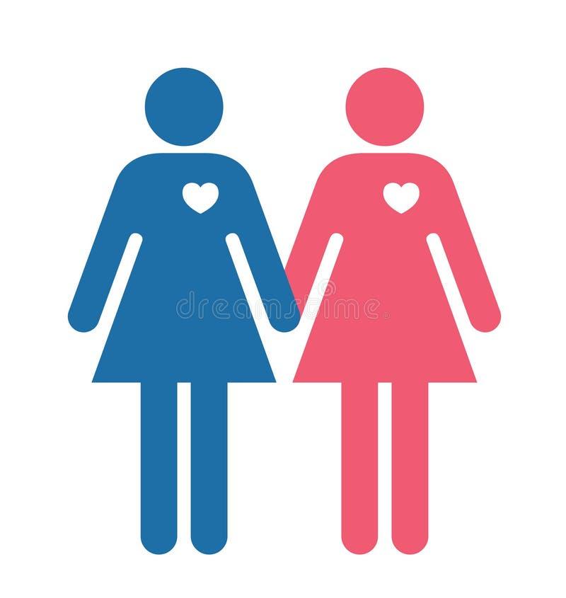 Amanti lesbici illustrazione di stock