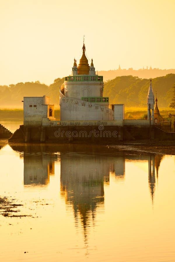 Amarapura,曼德勒,缅甸。 免版税库存照片
