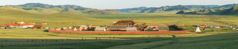 Amarbayasgalant-Kloster in Mongolei stockbilder