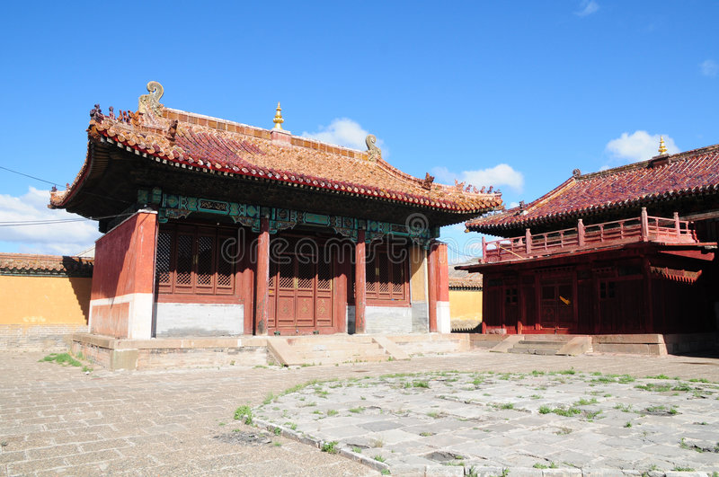 Amarbayasgalant Monastery in Central Mongolia stock images