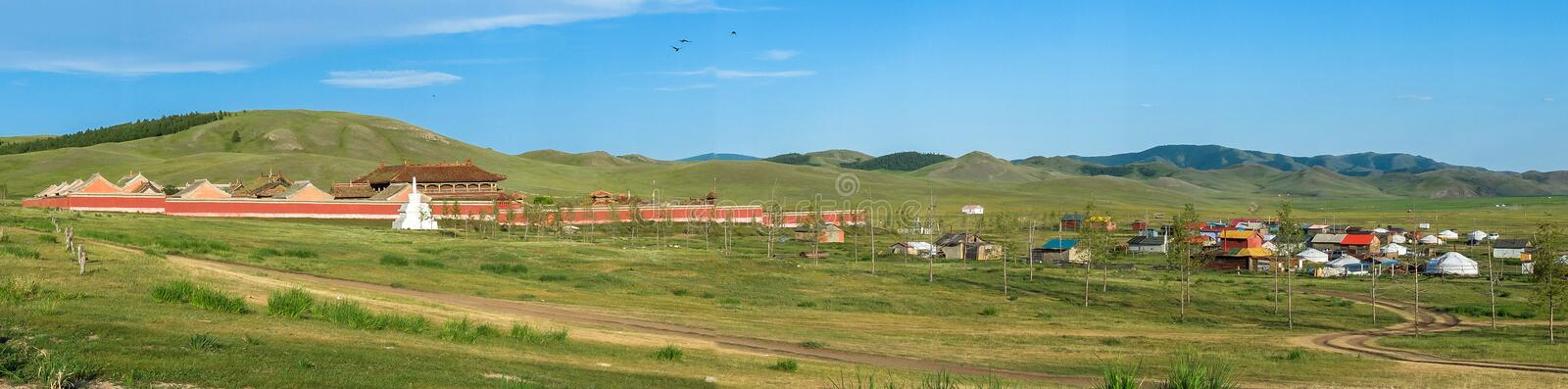 Amarbayasgalantklooster in Mongolië stock foto