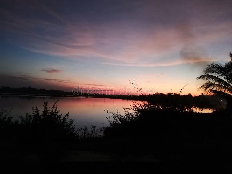 Amare il tramonto fotografia stock libera da diritti