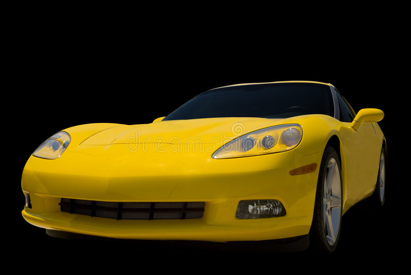 Amarele o carro de esportes foto de stock royalty free