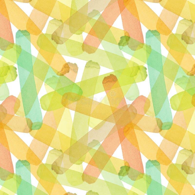 Amarelo artístico gráfico elegante transparente bonito abstrato brilhante do outono da textura, laranja, verde, erval, luz - o ma ilustração royalty free