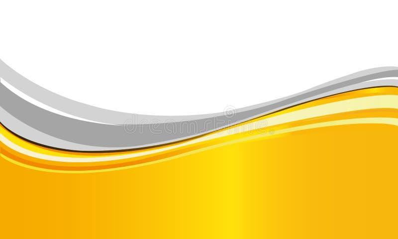 Amarelo brilhante ilustração stock