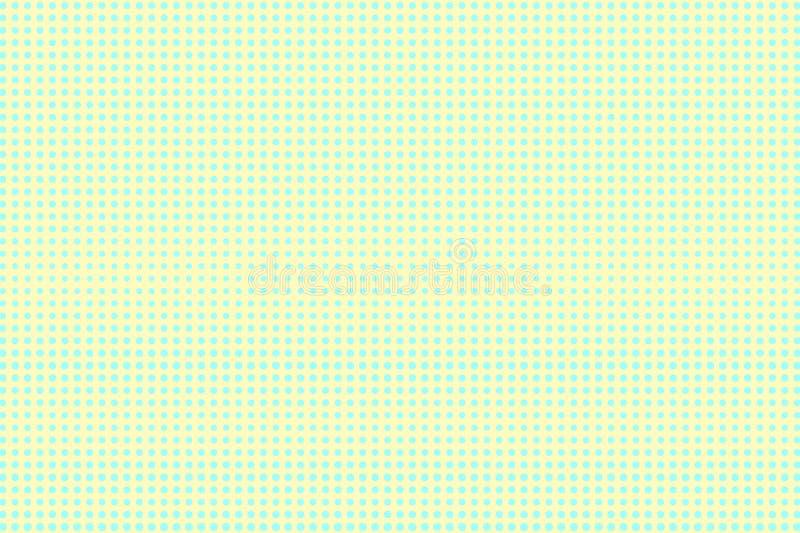 Amarelo ciano reticulação pontilhada Inclinação pontilhado regular centrado Fundo da reticulação ilustração do vetor