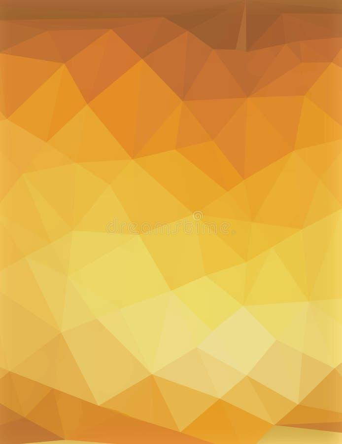 Amarelo criativo da imagem super poligonal do vetor fotografia de stock royalty free