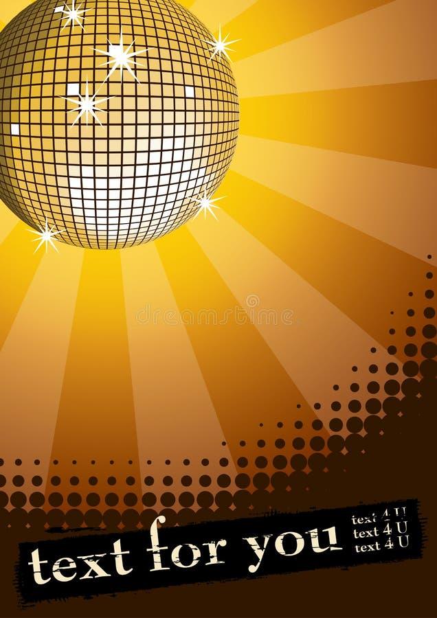 Amarelo da esfera do disco. ilustração stock