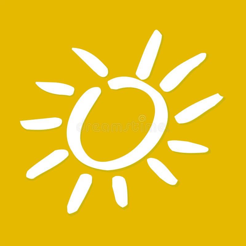 Amarelo da luz do sol ilustração royalty free