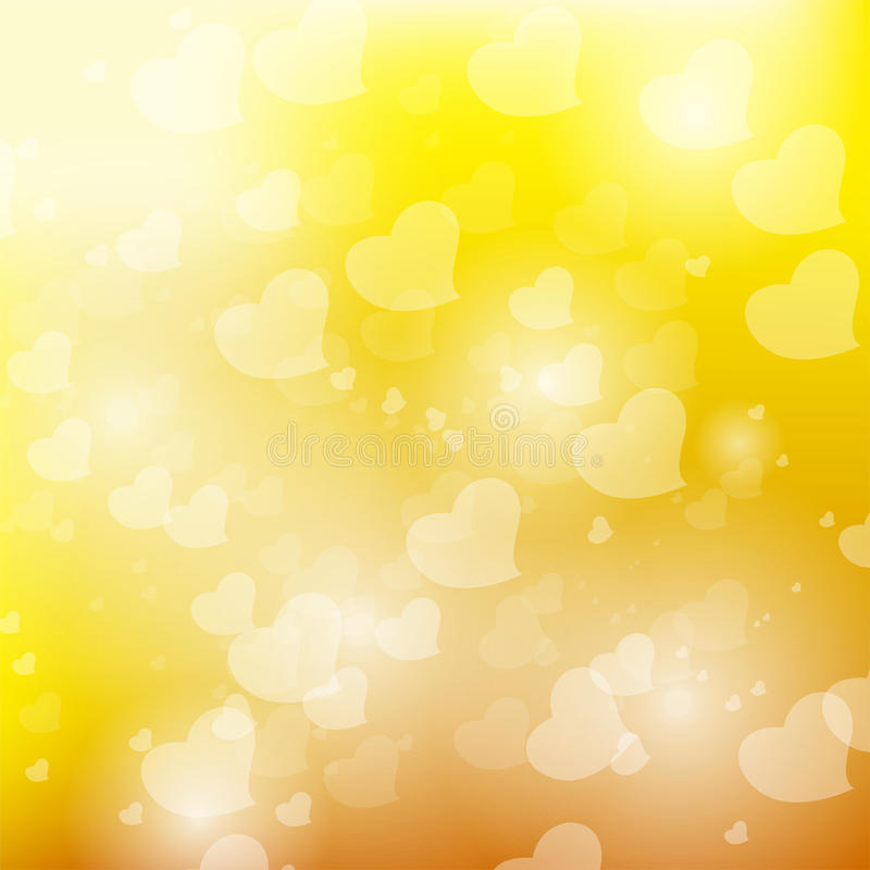 Amarelo de Bokeh fotografia de stock