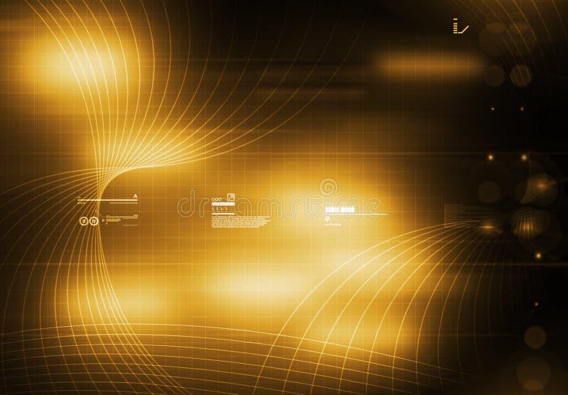 Amarelo do fundo de Tecnology ilustração stock