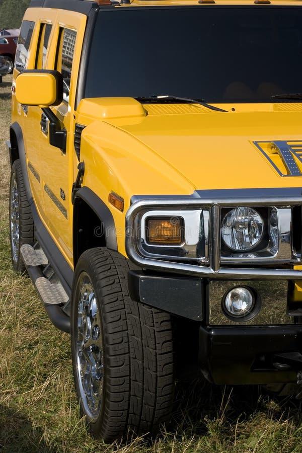 Amarelo do Hummer foto de stock