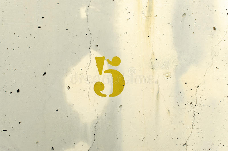 Amarelo do número cinco imagem de stock royalty free