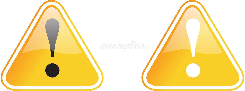 Amarelo do sinal de aviso ilustração do vetor
