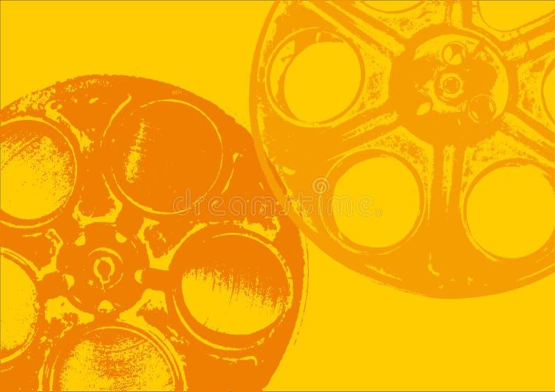 Amarelo dos carretéis de película ilustração do vetor
