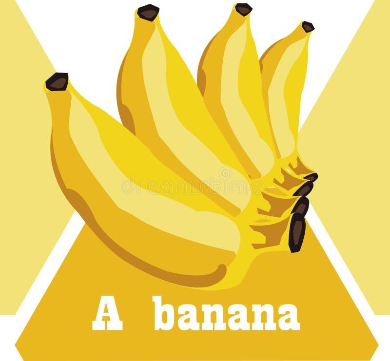 Amarelo dourado cozinhado banana a comer ilustração royalty free